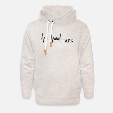 Going AFK is like dying - Unisex Shawl Collar Hoodie
