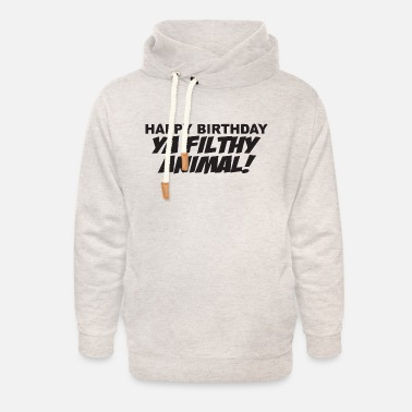 happy b day - Unisex Shawl Collar Hoodie