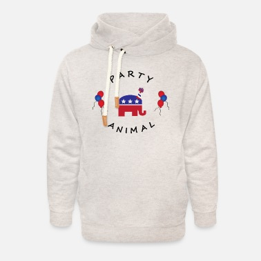 Republicans PARTY ANIMAL REPUBLICAN update 2 - Unisex Shawl Collar Hoodie