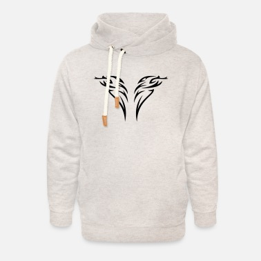Wing tattoo - Unisex Shawl Collar Hoodie