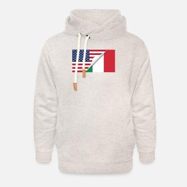 Kids /& Toddler Pullover Hoodie Fleece Half Italian Flag Half USA Flag Love Heart Sweater
