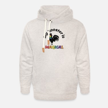 Fly Gay Pride Parade Magical Rooster Funny LGBTQ - Unisex Shawl Collar Hoodie