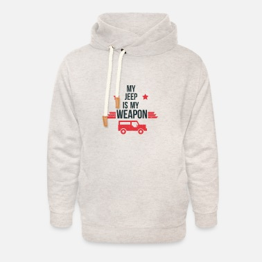 Cool Quote My Jeep Is My Weapon - Jeep - Unisex Shawl Collar Hoodie