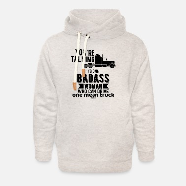 Woman Truck Driver Truck driver wife Speditionslogistik - Unisex Shawl Collar Hoodie