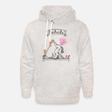 Tone Pilates Unicorn Exhale Textured Two Tone - Unisex Shawl Collar Hoodie