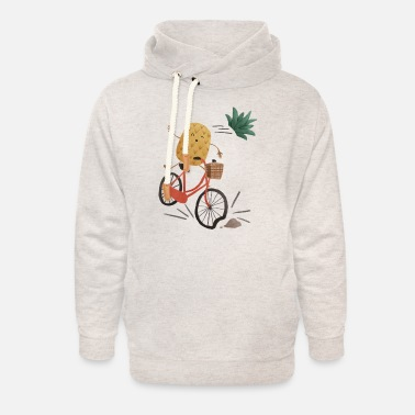 Pineapple Bike Obstacle - Unisex Shawl Collar Hoodie