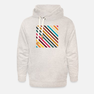 Retro Stripes In Transparent Background, No 01 - Unisex Shawl Collar Hoodie