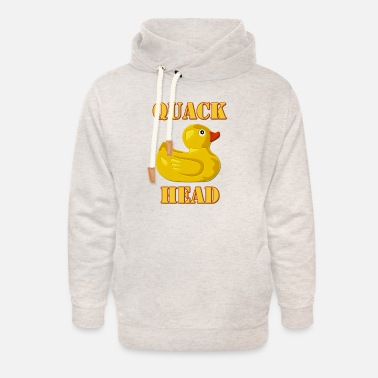Hooked On Quack Quack Head, Duck Lover - Unisex Shawl Collar Hoodie