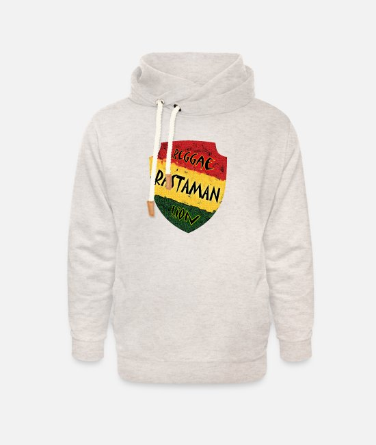 Rasta Hoodies & Sweatshirts - Reggae Rastaman - Unisex Shawl Collar Hoodie heather oatmeal