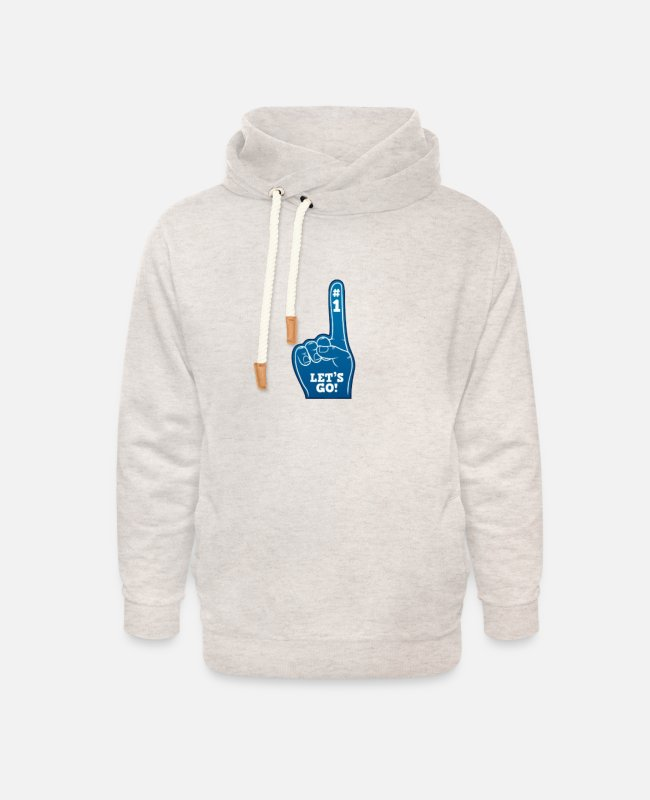 College Style Hoodies & Sweatshirts - Let's go - Unisex Shawl Collar Hoodie heather oatmeal