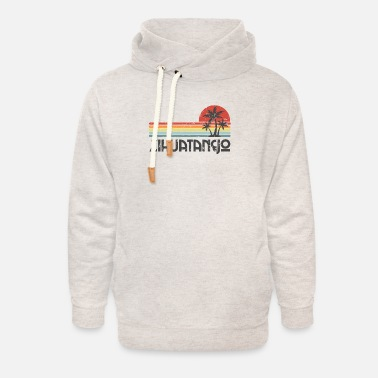 Spring Break Zihuatanejo Mexico - Mexican Beach Retro Sunset Vi - Unisex Shawl Collar Hoodie