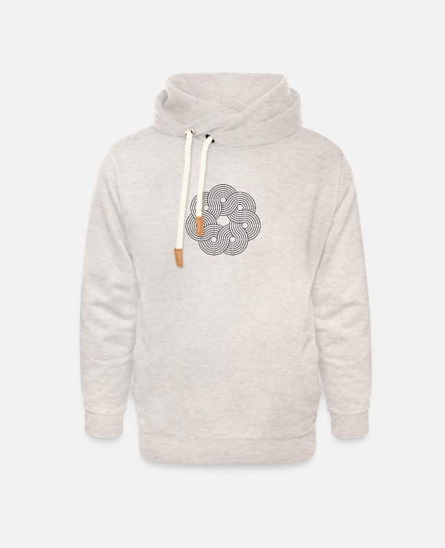Visualization Hoodies & Sweatshirts - Mandala Yoga Optical Illusion Zen Paradoxon Gift - Unisex Shawl Collar Hoodie heather oatmeal