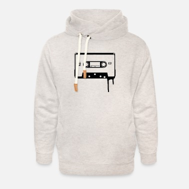 Old School Old School Cassette Tape - Unisex Shawl Collar Hoodie
