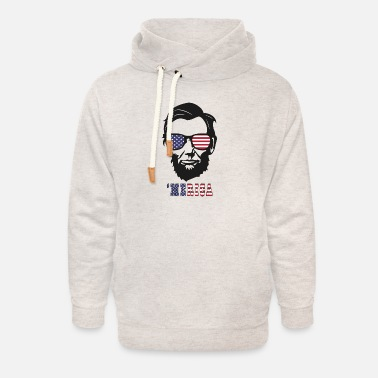 4th of july Abe lincoln t-shirts - Unisex Shawl Collar Hoodie