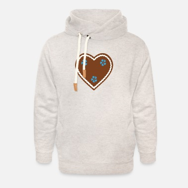 Gingerbread Heart Gingerbread Heart - Unisex Shawl Collar Hoodie