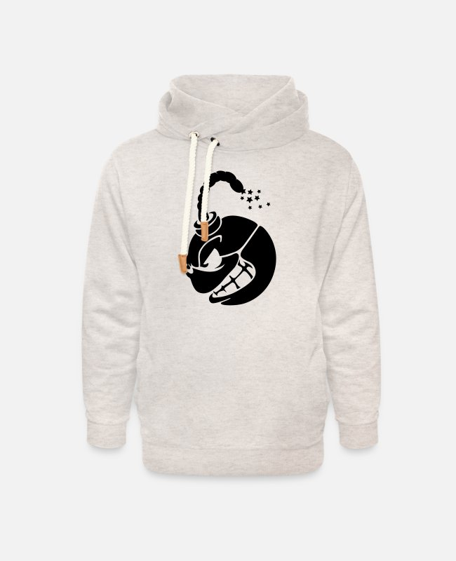 Shell Hoodies & Sweatshirts - bomb black poweder fuse fuze blasting match cord - Unisex Shawl Collar Hoodie heather oatmeal