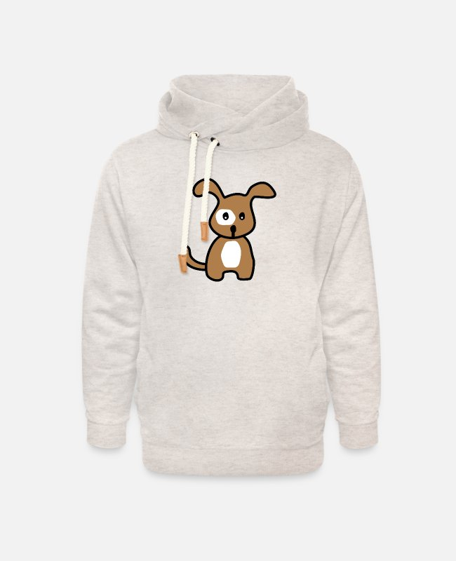 Cute Dog Hoodies & Sweatshirts - puppy - Unisex Shawl Collar Hoodie heather oatmeal