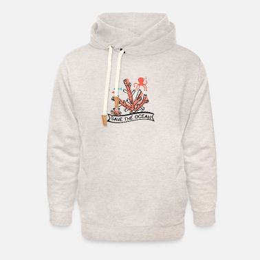 Octopus Save the ocean climate protection environmental - Unisex Shawl Collar Hoodie