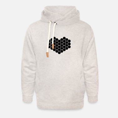 Bumble Bee Heart - Unisex Shawl Collar Hoodie