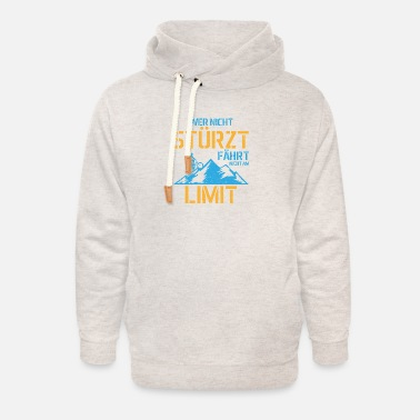 Cycle Who does not fall does not drive at the limit gift - Unisex Shawl Collar Hoodie