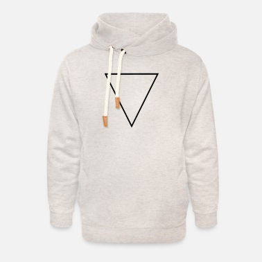 Troika flipped triangle - Unisex Shawl Collar Hoodie