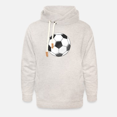 Moleskin football - Unisex Shawl Collar Hoodie