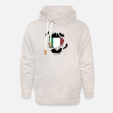 Schland Proud Italian flag - Awesome Italian flag t - sh - Unisex Shawl Collar Hoodie