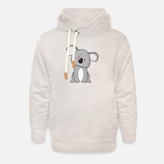 Koala Hoodies & Sweatshirts - 3 - Unisex Shawl Collar Hoodie heather oatmeal