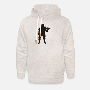 Army Sniper Army Sniper Silhouette - Unisex Shawl Collar Hoodie