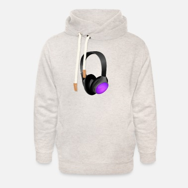 Headphones Headphones - Unisex Shawl Collar Hoodie