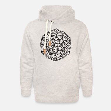 Way Mandala Ornament - Unisex Shawl Collar Hoodie