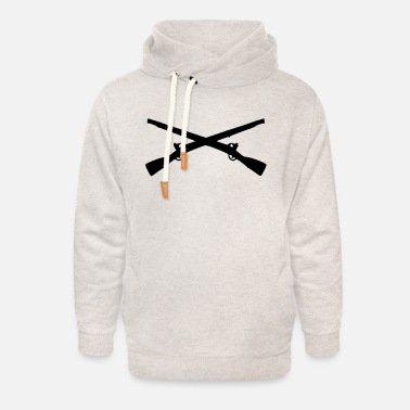 Rifle Crossed Rifles - Unisex Shawl Collar Hoodie