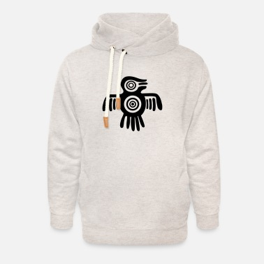 Aztec Aztec Spirit Bird - Native American - Tribal - Unisex Shawl Collar Hoodie
