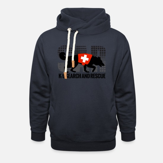 Unit Hoodies & Sweatshirts - K-9 Search and Rescue - Unisex Shawl Collar Hoodie navy