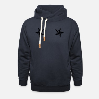 Star dual_nautical_stars - Unisex Shawl Collar Hoodie