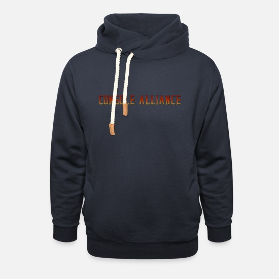 Game Hoodies & Sweatshirts - Console Kombat - Unisex Shawl Collar Hoodie navy