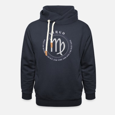 Awesome Quote virgo Zodiac horoscope with awesome quote - Unisex Shawl Collar Hoodie