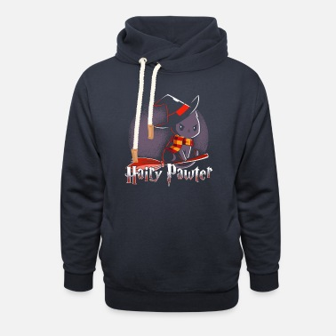 Potter Hairy Pawter Broom - Unisex Shawl Collar Hoodie