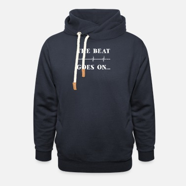 Attack Heart Attack Survivor The Beat Goes On Gift - Unisex Shawl Collar Hoodie