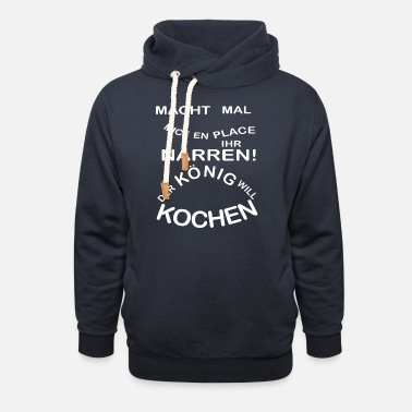 Commis De Cuisine Make mice en place fools The king wishes to cook - Unisex Shawl Collar Hoodie