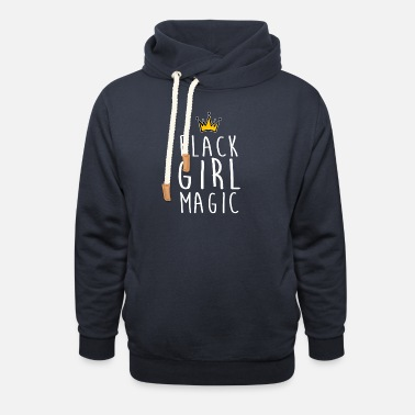 Black Girl Magic Black Girl Magic Crown Shirt Black Girl Pride Shir - Unisex Shawl Collar Hoodie