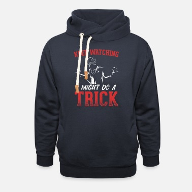 Wand Perfect Magician Design Quote I Might Do A Trick - Unisex Shawl Collar Hoodie