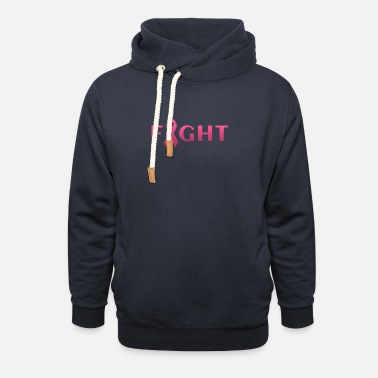 Breast Cancer Fight Breast cancer FIGHT - Unisex Shawl Collar Hoodie