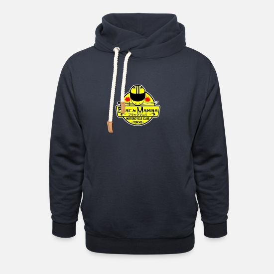 Mamba Hoodies & Sweatshirts - Black Mamba Motorcycle Club - Unisex Shawl Collar Hoodie navy