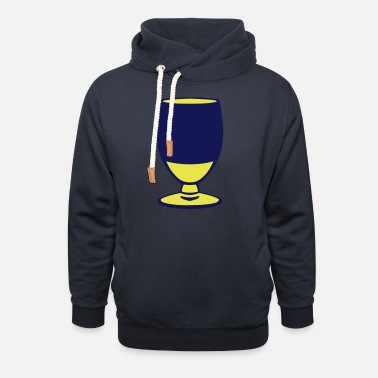 Aperitif alcohol aperitif glass yellow 1007 - Unisex Shawl Collar Hoodie