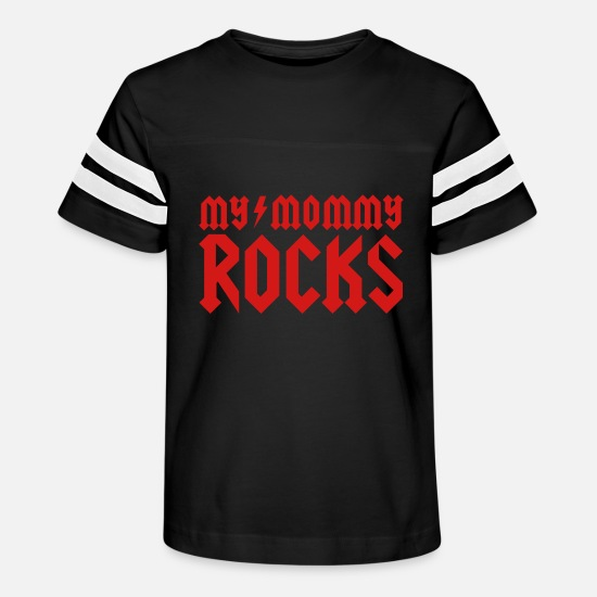 Mother's Day T-Shirts - My mommy rocks - Kids' Vintage Sport T-Shirt black/white