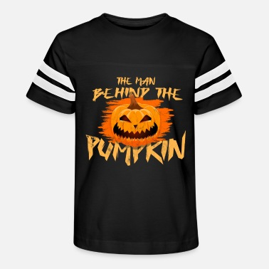 Funny Pregnancy The Man Behind The Pumpkin Pregnancy Halloween - Kids' Vintage Sport T-Shirt