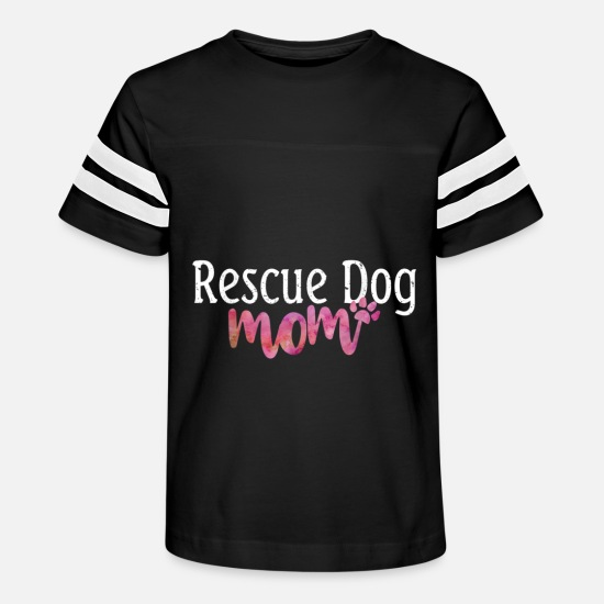 Dogs T-Shirts - Cute Rescue Dog Mom Dog Mama Rescue Dog Womens T S - Kids' Vintage Sport T-Shirt black/white