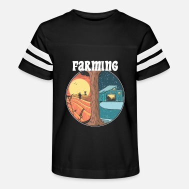 Countryside Farming all year Farmer Gamer PC console harvest - Kids' Vintage Sport T-Shirt