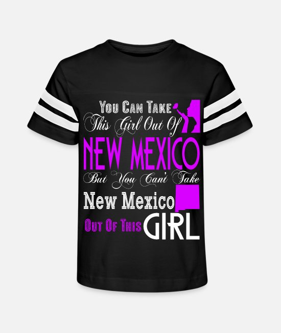 New T-Shirts - New Mexico T Shirt, New Mexico Girl T Shirt - Kids' Vintage Sport T-Shirt black/white